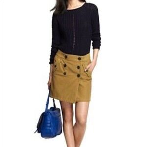 J.CREW BUTTON FRONT UTILITY SKIRT SIZE 00